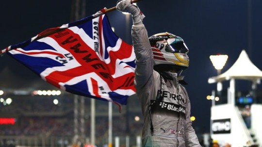 Lewis Hamilton celebrates victory & a second World Championship in Abu Dhabi