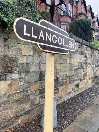 Photo of a sign saying Llangollen