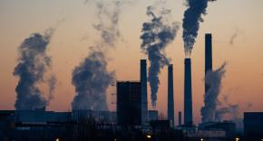 image shows powerplants pumping out smog