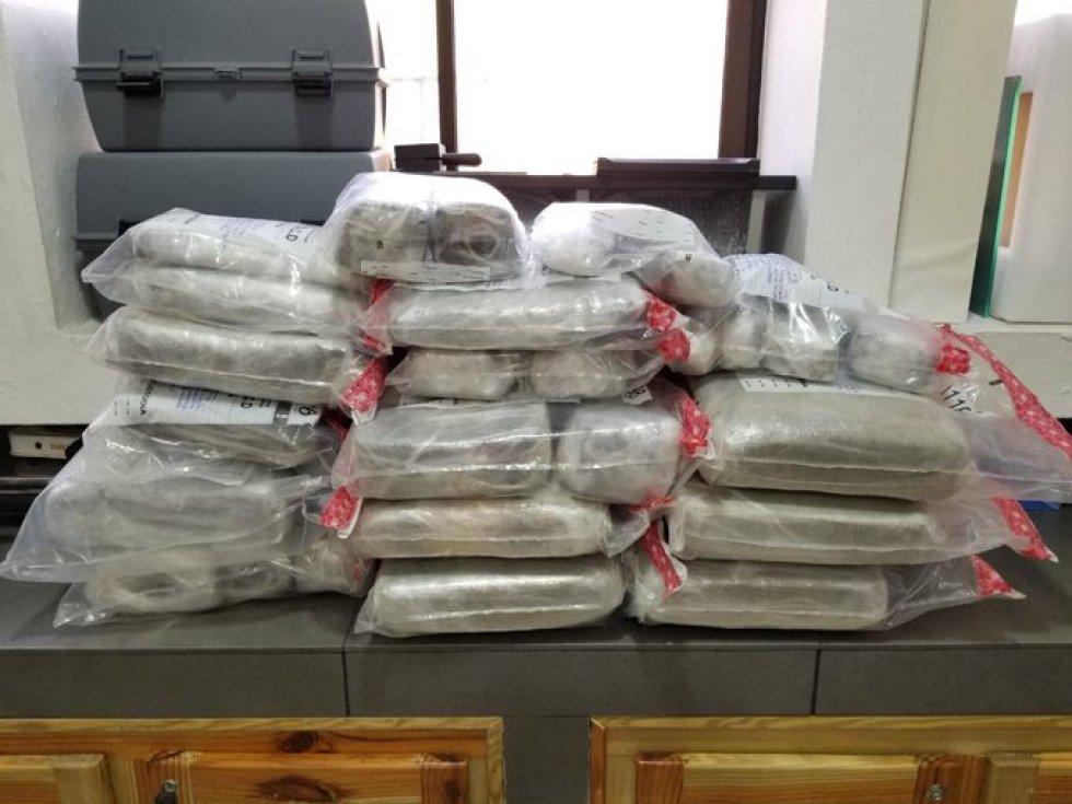 50 kilos de cocaína.