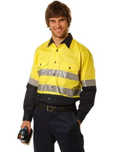 Impact Teamwear - Long Sleeve Safety Shirt with Reflective 3M Tape