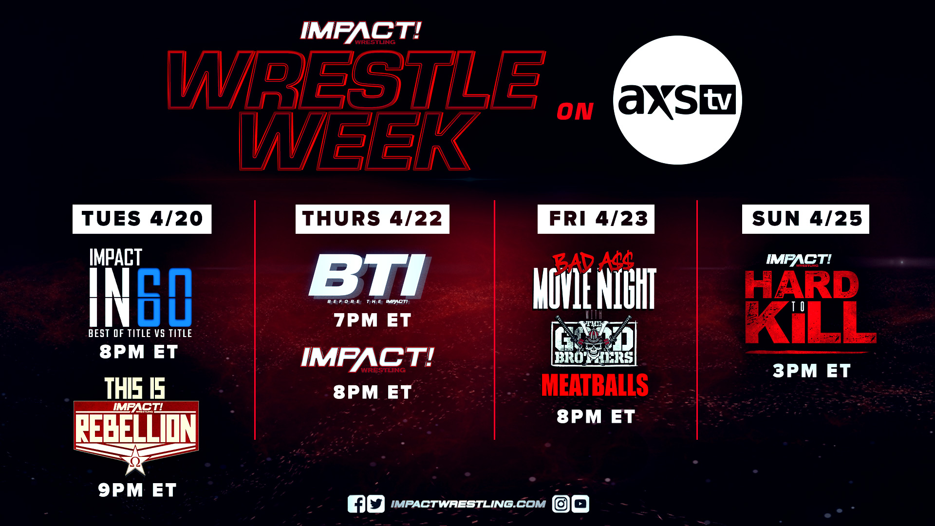 Wrestle Week Takes Over AXS TV Starting This Tuesday – IMPACT Wrestling