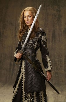 KEIRA KNIGHTLEY stars in PIRATES OF THE CARIBBEAN: AT WORLD'S END, directed by Gore Verbinski and produced by Jerry Bruckheimer, from a screenplay written by Ted Elliott & Terry Rossio.