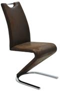 Fémvázas kárpitozott szék