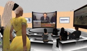 Avatar seguono la diretta streaming di un evento RL