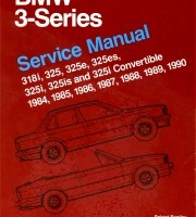 BENTLEY REPAIR MANUAL BMW 3 SERIES, 84-90