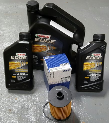 CASTROL EDGE OIL CHANGE PACKAGE PORSCHE CAYENNE 2012-2014 V6 ENGINE