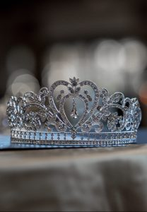 Diamond Crown on Dark Background