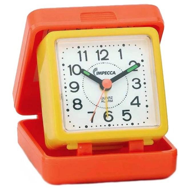 Travel Beep Alarm Clock Orange Yellow