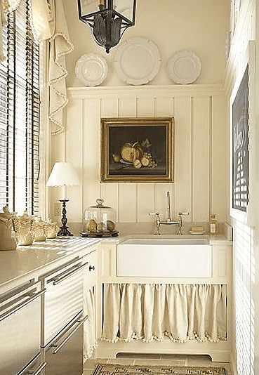 bathroom update with a cabinet skirt
