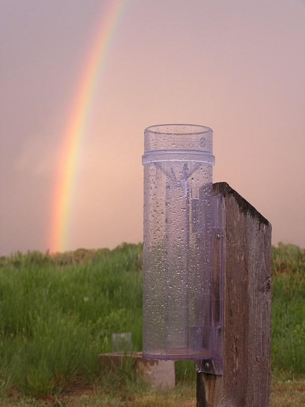 Raingauge Rainbow Close-up