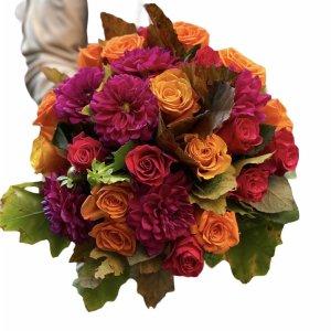 bouquet dalie rose