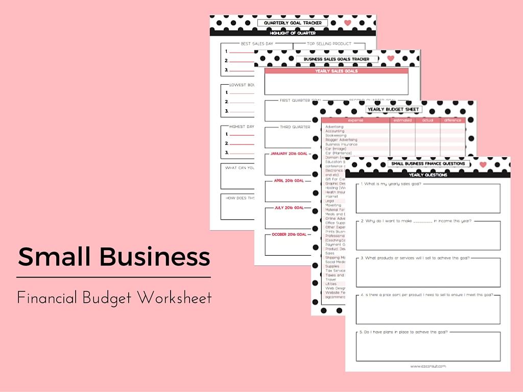 Financial Budget Worksheet