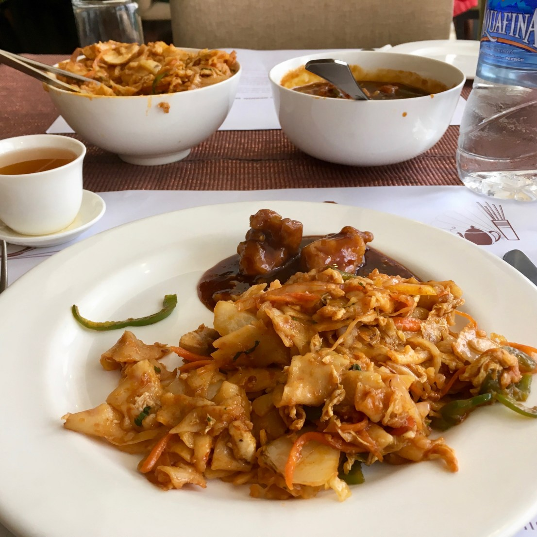 Kway Teow (Seafood) & Kung Pao Chicken