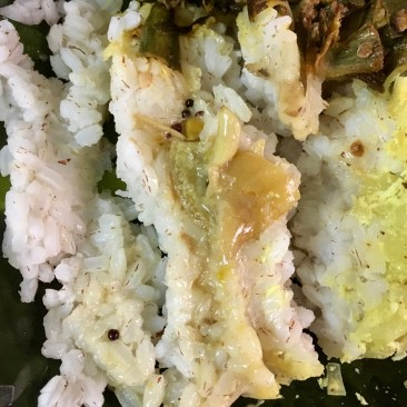 Rice with White Lime Pickle