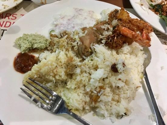 Chicken Biriyani with Chemmeen Porichathu