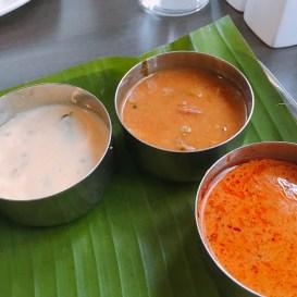 Pulissery, Sambar, Fish Curry