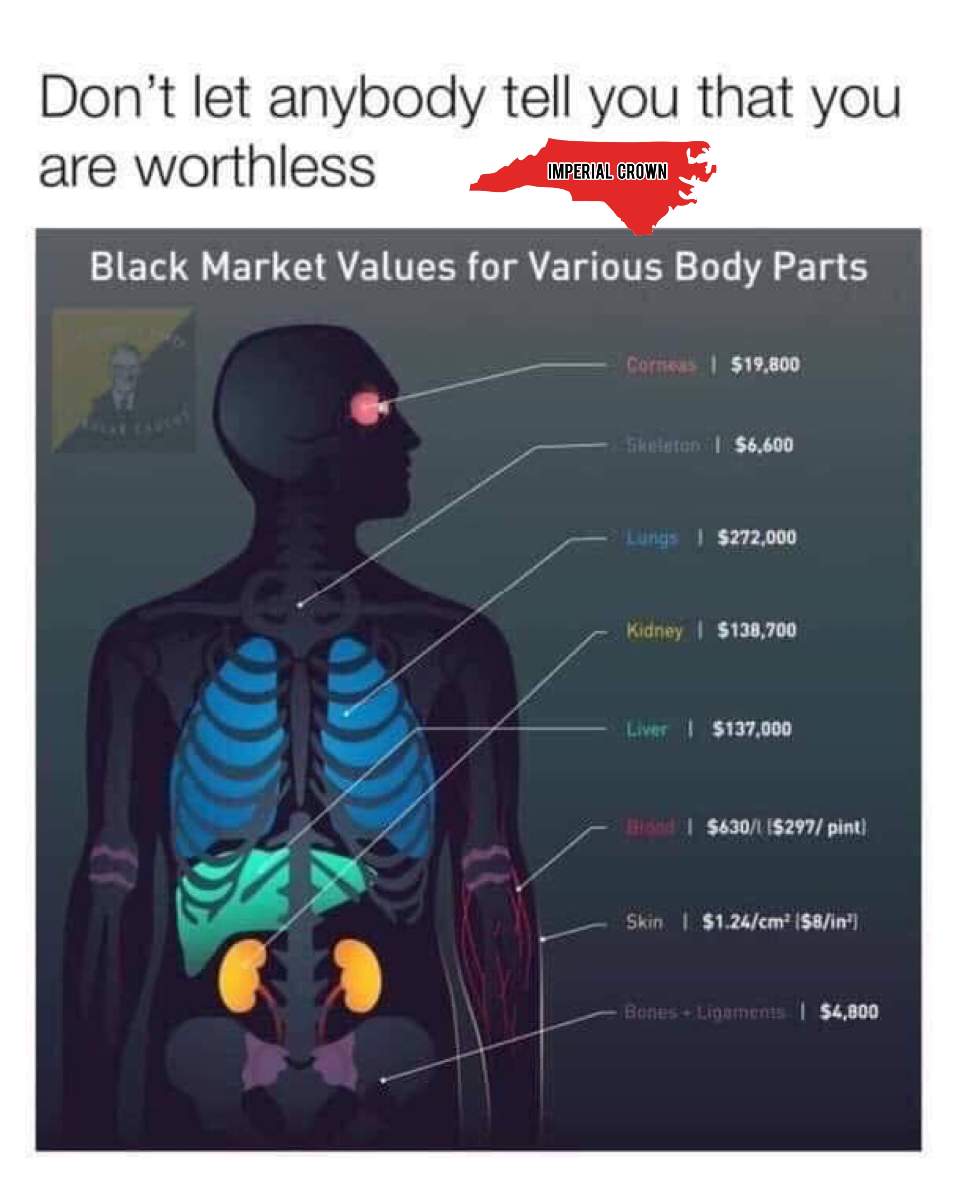 Don't let anyone tell you that you are worthless……