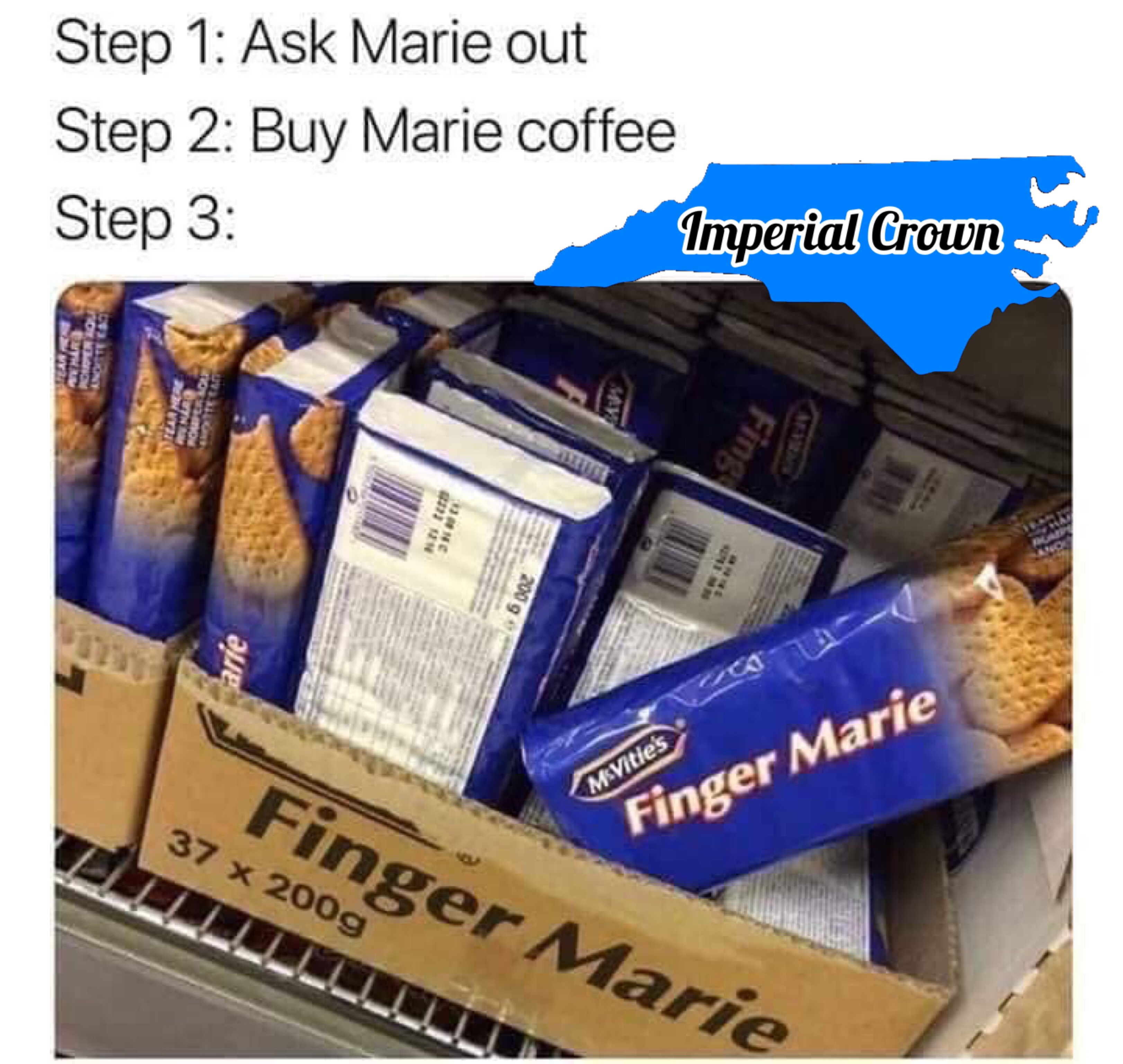 Step 1: ask Marie out