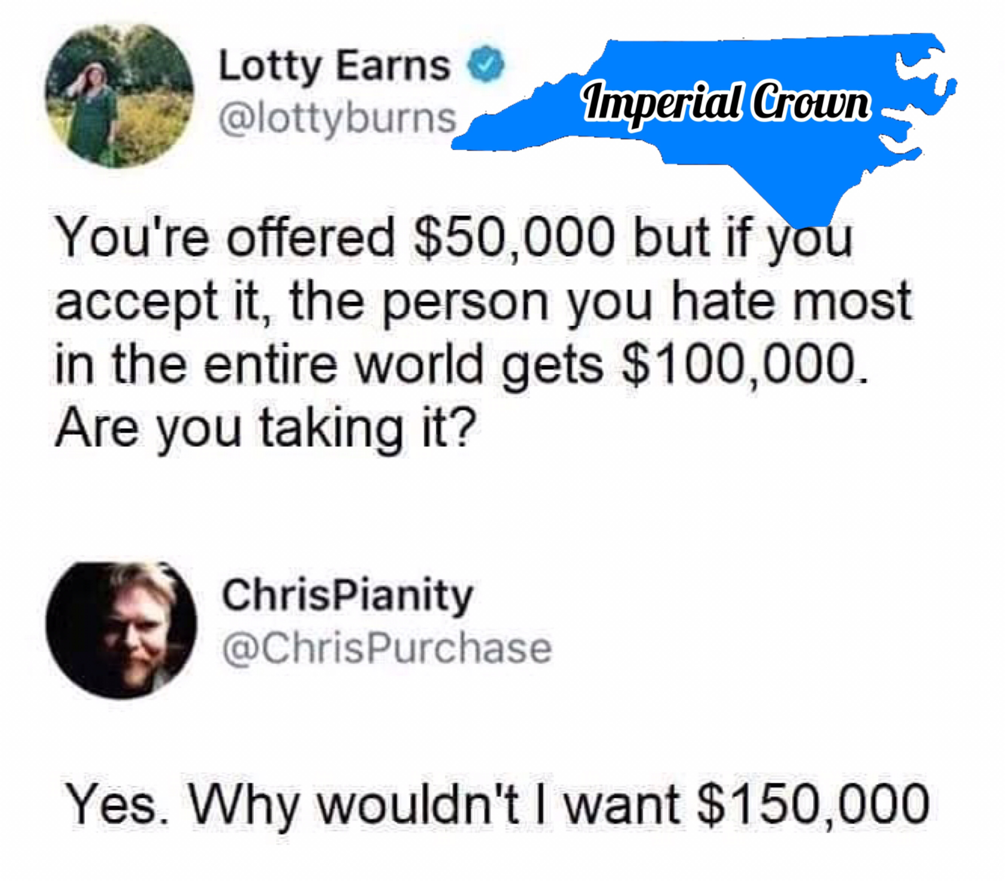 You're offered $50,000 but if you accept it….