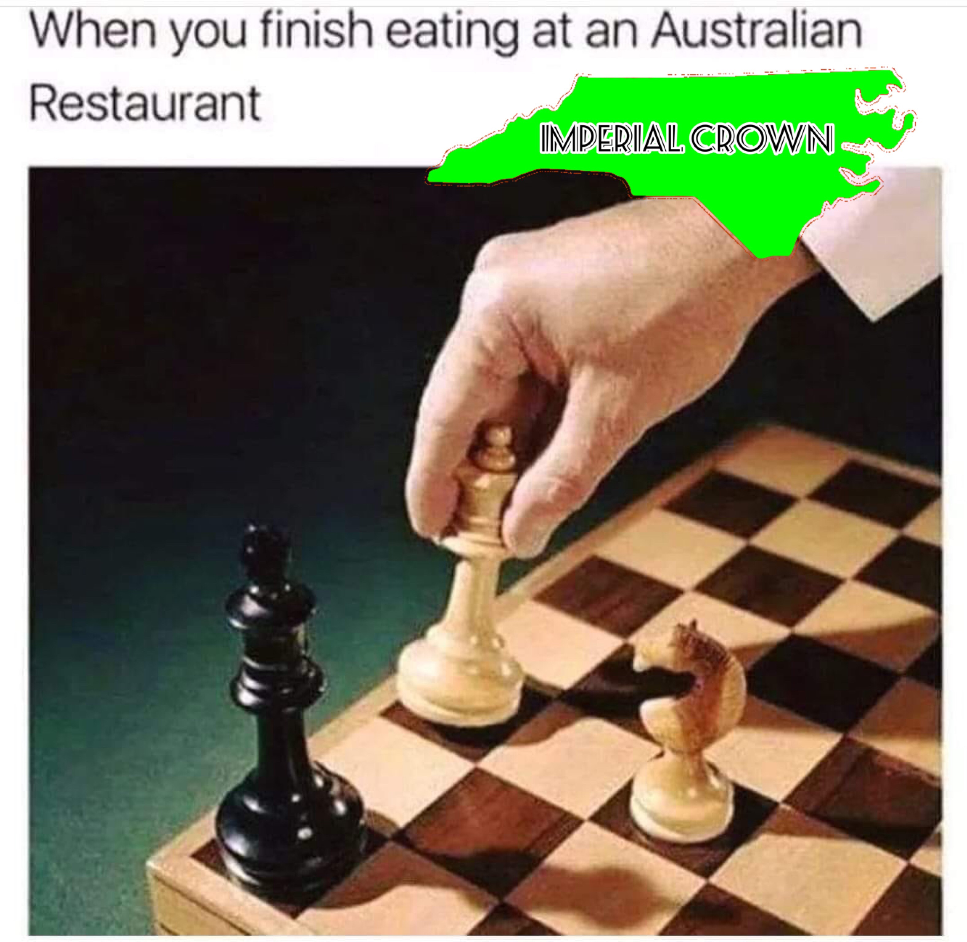When you finish eating at an Australian restaurant…