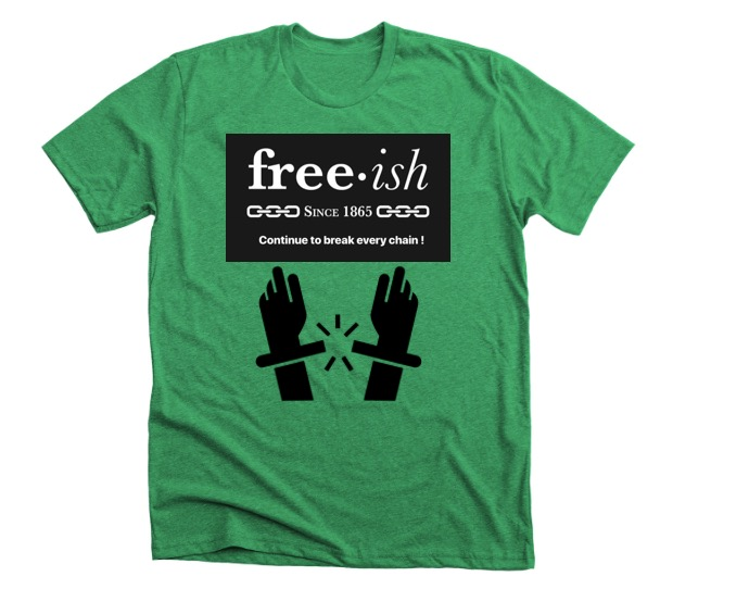 Freeish • Green • Black • White Premium T shirt