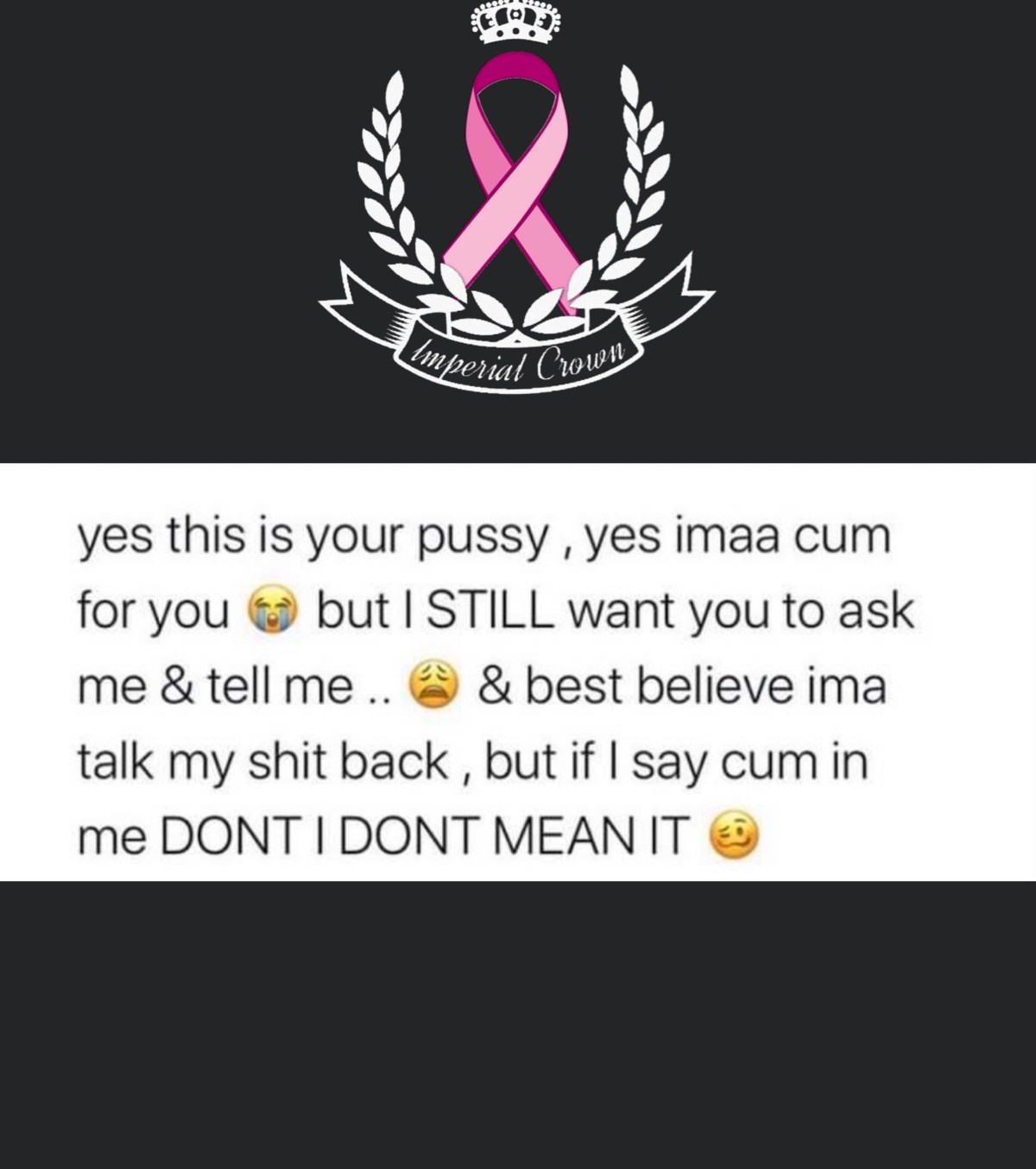 Yes this is your pussy yes ima cum for you but I still want you to ask me & tell