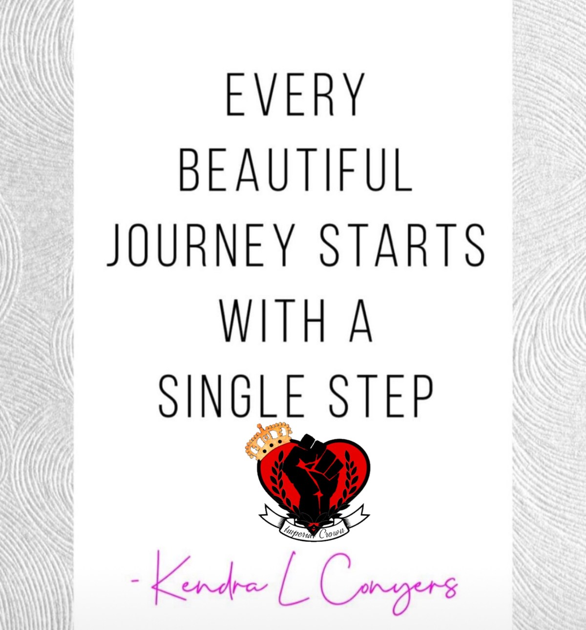Every beautiful journey starts with a single step