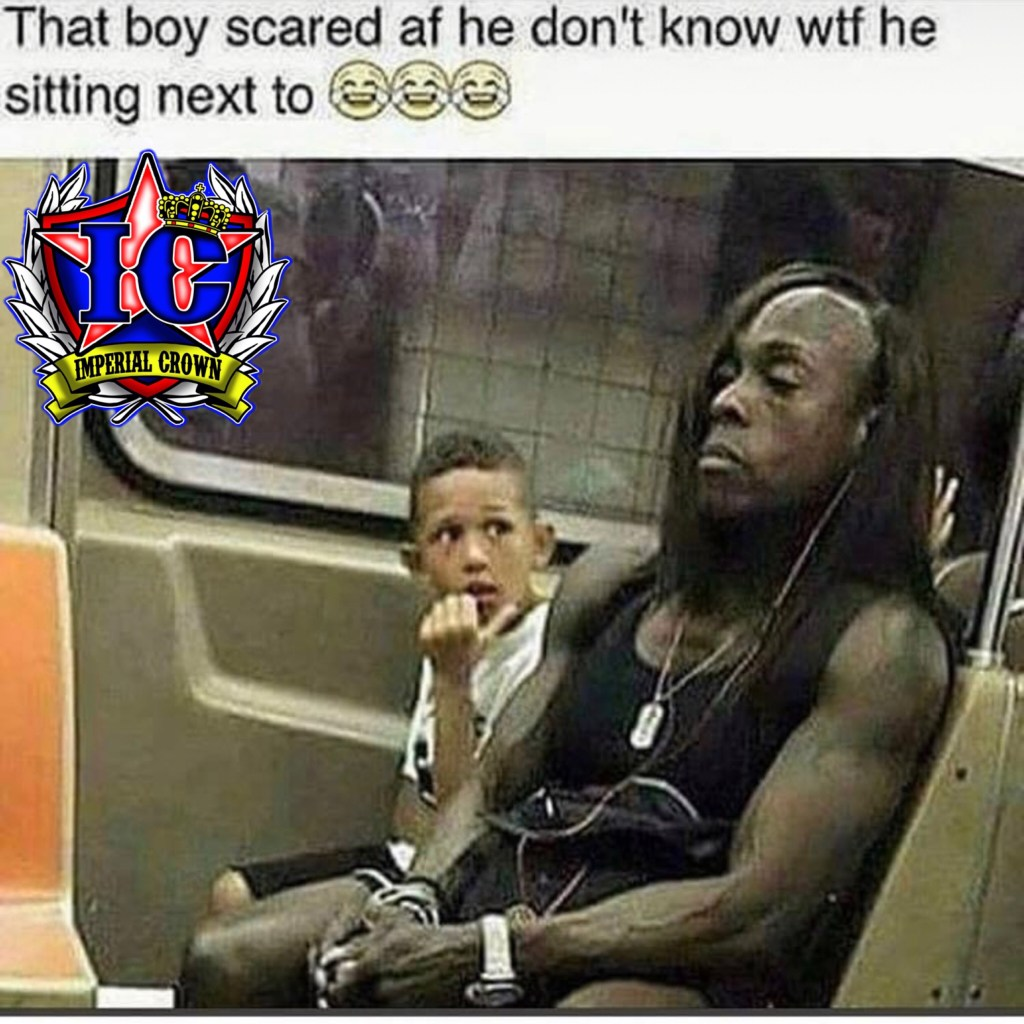 That boy scared af he Dont know wtf he sitting next to