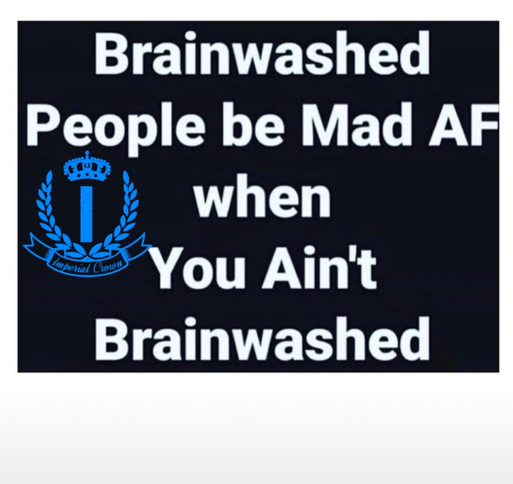 Brainwashed people be mad af when you ain't brainwashed