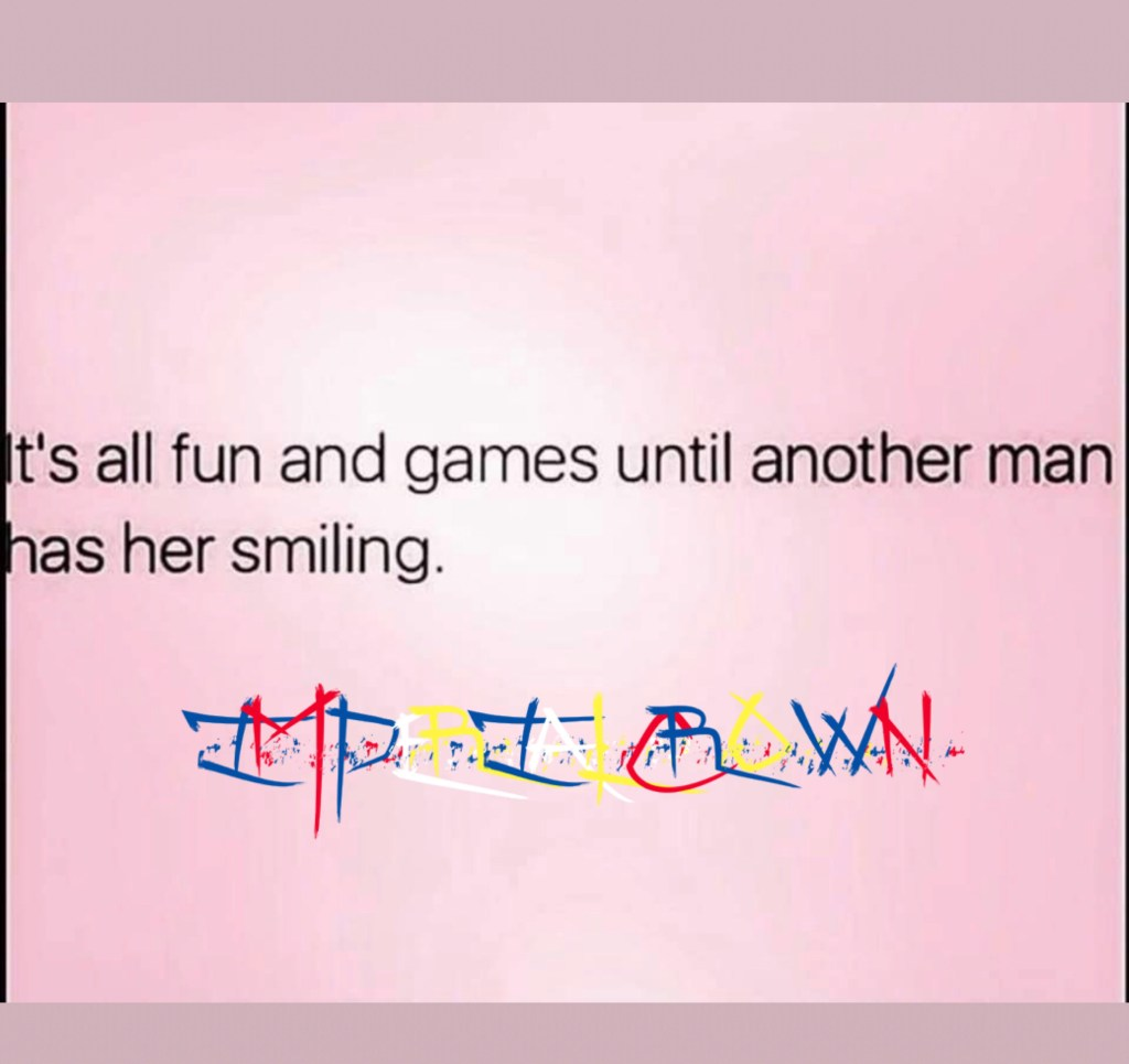 It's all fun and games until another man has her smiling