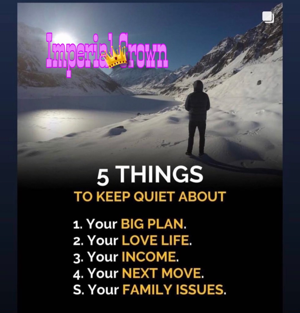 Five things to keep quiet about