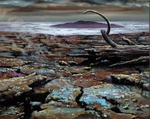 A blasted landscape to illustrate the setting for the Hazard entitled Sorcerous Ruin