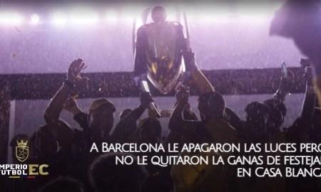 A Barcelona SC le apagaron las luces pero no le quitaron la ganas de festejar en Casa Blanca