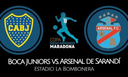 Boca Juniors vs Arsenal EN VIVO canales del partido por la Copa Diego Maradona