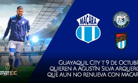 Guayaquil City y 9 de Octubre pendientes si Agustín Silva no renueva con Macará