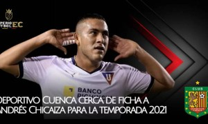 Deportivo Cuenca cerca de ficha a Andrés Chicaiza para la temporada 2021