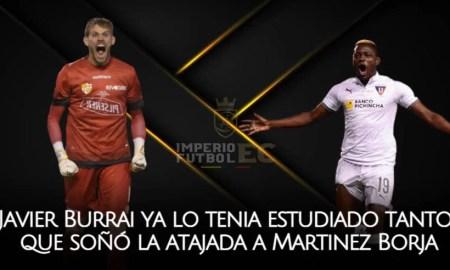 Javier Burrai ya lo tenia estudiado tanto que soñó la atajada a Martinez Borja