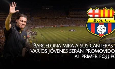 Varios jugadores de divisiones formativas serán promovidos al primer equipo de Barcelona SC