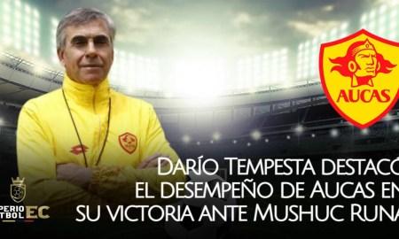 Darío Tempesta destacó el desempeño de Aucas en su victoria ante Mushuc Runa