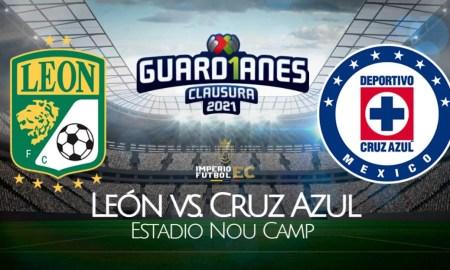 León vs Cruz Azul EN VIVO TUDN EN DIRECTO por el Clausura 2021 Liga MX