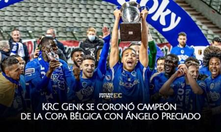 KRC Genk se coronó campeón de la Copa Bélgica con Ángelo Preciado