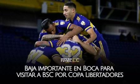Baja importante en Boca para visitar a BSC por Copa Libertadores