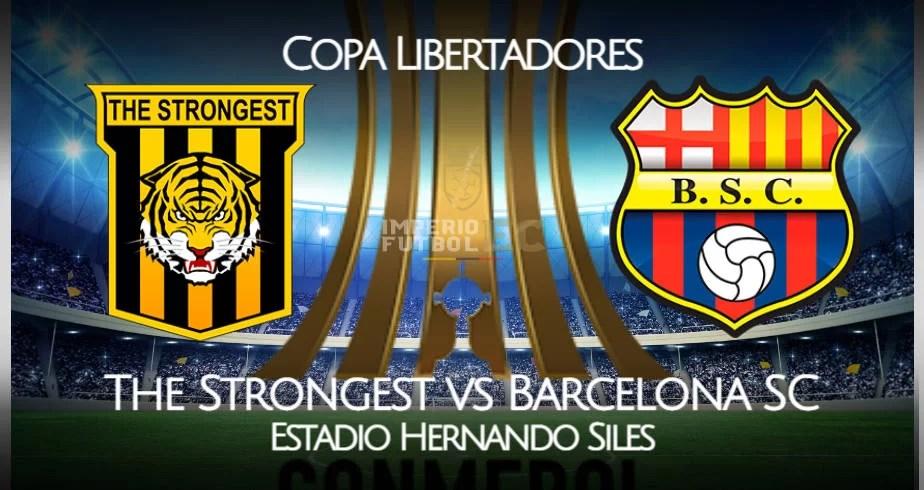 Barcelona SC - The Strongest EN VIVO canales para ver Copa Libertadores