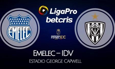 Emelec - IDV VER EN VIVO por la fecha 14 de la Liga Pro 2021 de Ecuador