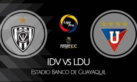 VER IDV - LDU de Quito EN VIVO por la fecha 11 de la Liga Pro 2021