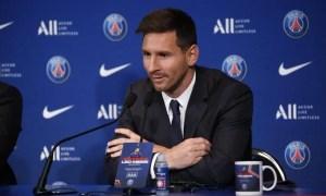 Lionel Messi rueda de prensa