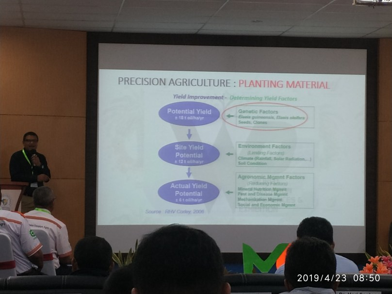 Salah satu penyampai materi ( Bapak Achmad Fathoni, First Resources Ltd) pada Manager Conference di Kampus Kendawangan April 2019