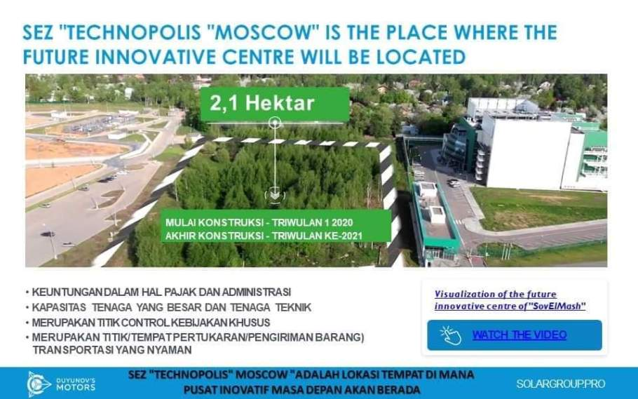 SolarGroup, SEZ Tehcnopolis Moscow is the Place Where the Future Innovative Centre Will be Located