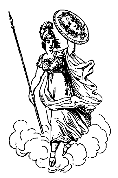 Pallas-Athene with her shield